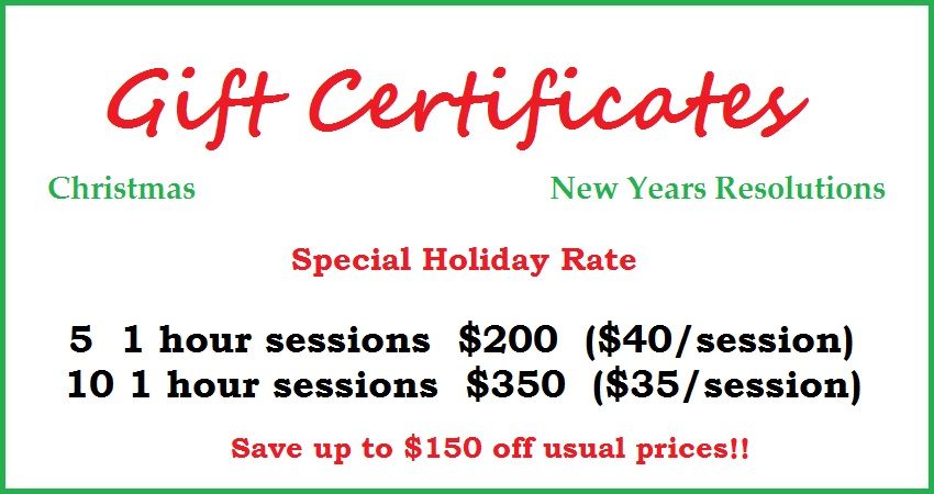 Port Orange fl Personal fitness trainer gift certificate